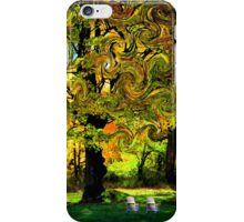 Adirondack Chairs in a Maple Wind iPhone Case/Skin
