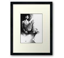 Dylan - Conté Drawing Framed Print