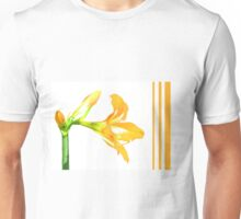 Golden Lily on White T-Shirt