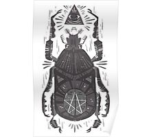 All Seeing Eye - Beetle One - grey Poster