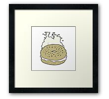 cartoon bagel Framed Print