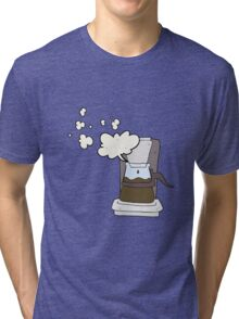 cartoon drip filter coffee maker Tri-blend T-Shirt