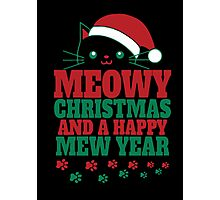 Cat Christmas and happy new year Photographic Print