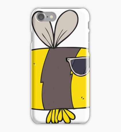 cartoon bee wearing sunglasses iPhone Case/Skin
