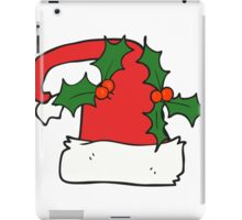 cartoon christmas holly hat iPad Case/Skin