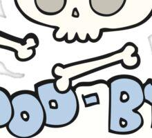 cartoon good-bye symbol Sticker