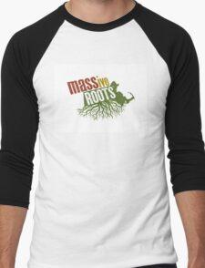 MASSiveRoots Tri-Color Men's Baseball ¾ T-Shirt