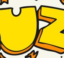 cartoon buzz symbol Sticker