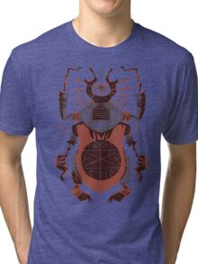 Eye of the Gods - Beetle Three - red Tri-blend T-Shirt