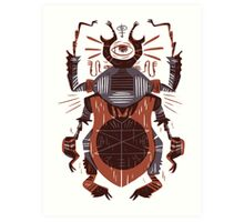 Eye of the Gods - Beetle Three - red Art Print