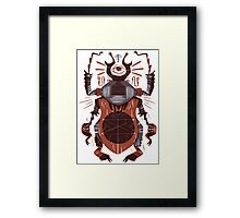 Eye of the Gods - Beetle Three - red Framed Print