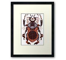 Eye of the Gods - Beetle Three - red Framed Print
