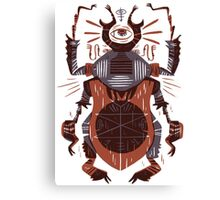 Eye of the Gods - Beetle Three - red Canvas Print