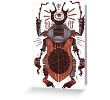 Eye of the Gods - Beetle Three - red Greeting Card