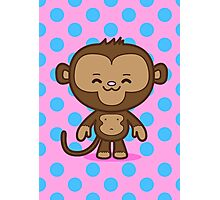 Little Monkey / Pink & Blue Photographic Print