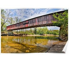 Covered Bridge at Cox Ford Poster