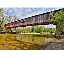 Covered Bridge at Cox Ford Photographic Print