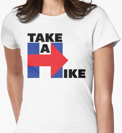 Take A Hike (Black) Womens Fitted T-Shirt