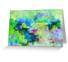 Lyrical Abstract Art Greeting Card