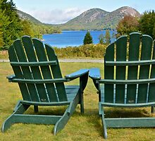 On The Lawn, Jordan Pond by Dan Hatch