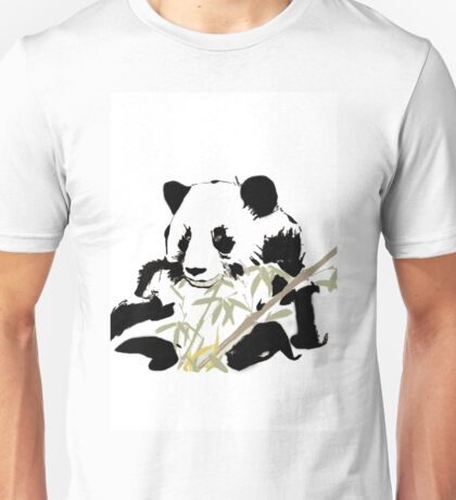 Giant Panda (Ailuropoda melanoleuca) (Chinese brush art) Unisex T-Shirt