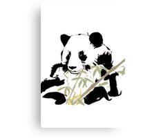 Giant Panda (Ailuropoda melanoleuca) (Chinese brush art) Canvas Print