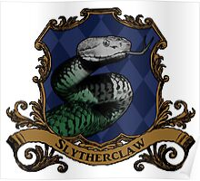 Slytherclaw House Crest Poster