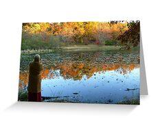 Fall Scenics over the Lake, Garrett Mountain Reservation, Woodland Park, Passaic County NJ Greeting Card