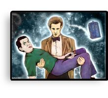 doctor who and mr. bean Canvas Print