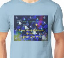 Christmas Card in Blue - for all my RedBubble Friends Unisex T-Shirt