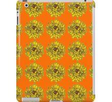 Yellow Flowers on Orange Background iPad Case/Skin