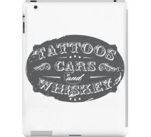 Voodoo Designs - Tattoos Cars & Whiskey iPad Case/Skin