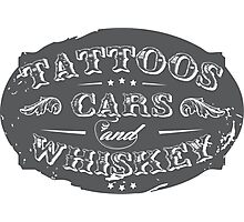 Voodoo Designs - Tattoos Cars & Whiskey Photographic Print