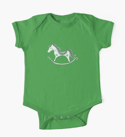 Merry Rocking Horse One Piece - Short Sleeve