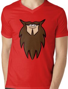 Happy Beard Mens V-Neck T-Shirt