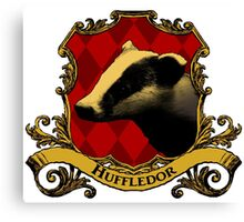 Huffledor House Crest Canvas Print