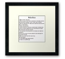 McGee Rules Framed Print