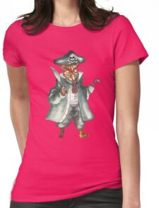 Hook Cat Womens Fitted T-Shirt