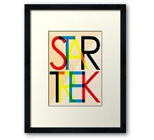Star Trek - Swiss Modern Design Framed Print