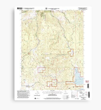 USGS TOPO Map California CA Sardine Peak 295098 2000 24000 geo Canvas Print