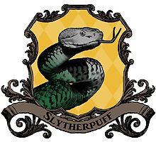 Slytherpuff House Crest by SedatedArtist