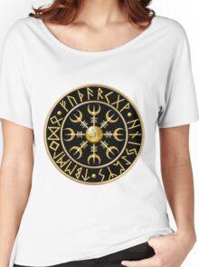 Norse Aegishjalmur Runes - Black Women's Relaxed Fit T-Shirt