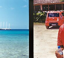 Diptych: Vanuatu Harbor/Smiling Tourist Guide by wellfinished