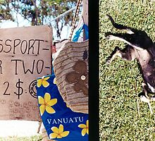 Diptych: Vanuatu Market/Scratching the Dog by wellfinished
