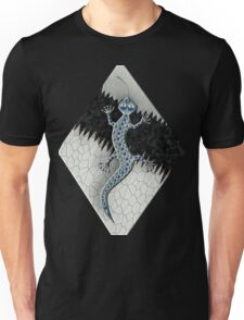 WHITE GECKO 119 R PATCH. Unisex T-Shirt