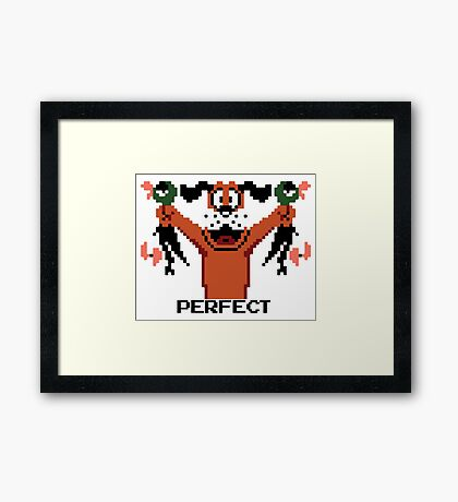PERFECT. Framed Print