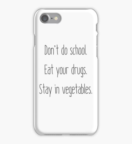 Stay in Vegetables iPhone Case/Skin