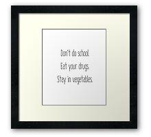Stay in Vegetables Framed Print