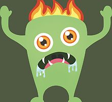 Monster in fire by DjenDesign