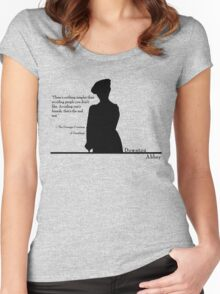 Avoiding People Women's Fitted Scoop T-Shirt
